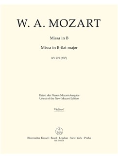 W.A. Mozart: Missa Brevis In B Flat K. 275 (Violin I) Books | Choral, Orchestra