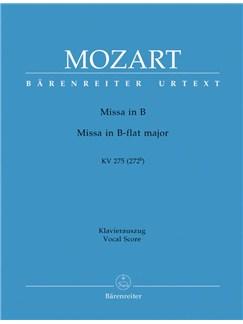 W.A. Mozart: Missa Brevis In B Flat K. 275 (Vocal Score) Books | Choral, Orchestra