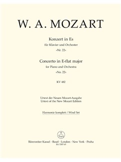 W.A. Mozart: Piano Concerto No.22 In E-Flat K.482 (Wind Set) Books | Orchestra, Piano