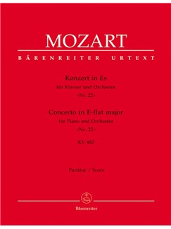 W.A. Mozart: Piano Concerto No.22 In E-Flat K.482 (Full Score) Books | Orchestra, Piano