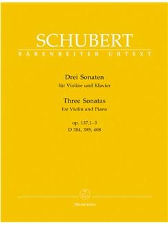 "F. Schubert: Three Sonatas ""Sonatinas"" For Violin And Piano Op. 137 Books | Violin, Piano Accompaniment"