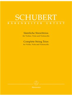 F. Schubert: Complete String Trios (Parts) Libro | Violín, Viola, Cello