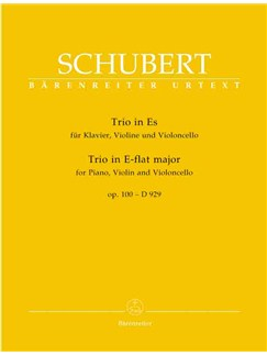 Franz Schubert: Trio In Es-Dur Für Klavier, Violine Und Violoncello Books | Violin, Cello, Piano