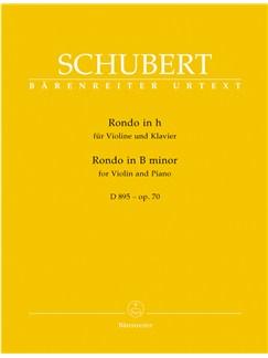 F. Schubert: Rondo For Violin And Piano B Minor Op.70 D 895 Books | Violin, Piano Accompaniment