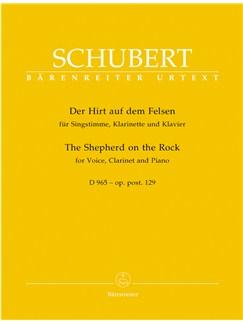 F. Schubert: The Shepherd On The Rock Op. Post.129 D 965 - Der Hirt Auf Dem Felsen Books | Clarinet, High Voice, Piano Accompaniment