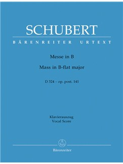 F. Schubert: Mass In B-Flat Major Op.Post.141 D 324 (Vocal Score) Books | Choral, Orchestra
