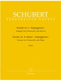 "F. Schubert: Sonata In A Minor D 821 ""Arpeggione"" Arranged For Cello & Piano Books 