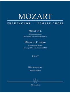 W.A. Mozart: Mass In C K.317 (Coronation Mass) (Arrangement For Female Choir SMezA) - Vocal Score Books | Choral, SSA, Piano Accompaniment