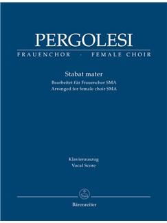 Giovanni Battista Pergolesi: Stabat Mater (arr. For Female Choir SMezA) - Vocal Score Books | Choral, SSA, Piano Accompaniment