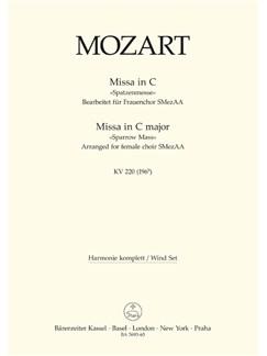 W. A. Mozart: Missa Brevis In C K.220 Sparrow-Mass (Arrangement For Female Choir SMezAA) Wind Set Books | Orchestra