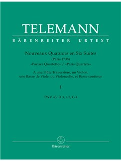G. P. Telemann: Paris Quartets Vol.1 (Score & Parts) Books | Chamber Group