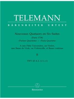 G. P. Telemann: Paris Quartets Vol.2 (Score & Parts) Books | Chamber Group