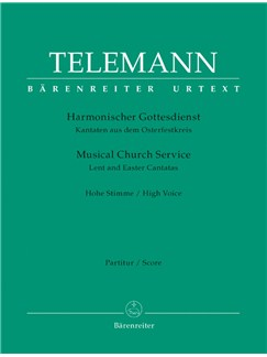 G. P. Telemann: Der Harmonische Gottesdienst - Lent And Easter: High Voice (Score & Parts) Books | High Voice
