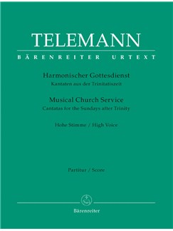 G. P. Telemann: Der Harmonische Gottesdienst - Cantatas For The Sundays After Trinity: High Voice (Score & Parts) Books | High Voice