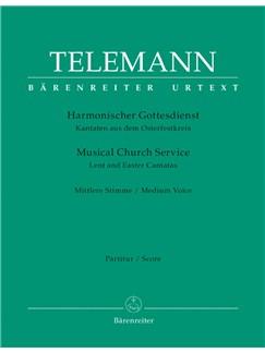 G. P. Telemann: Der Harmonische Gottesdienst - Lent And Easter: Medium Voice (Score & Parts) Books | Medium Voice