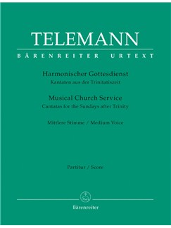 G. P. Telemann: Der Harmonische Gottesdienst - Cantatas For The Sundays After Trinity: Medium Voice (Score & Parts) Books | Medium Voice