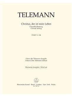G. P. Telemann: Christus, Der Ist Mein Leben (TVWV 1:138) (Wind Set) Books | Wind Instruments