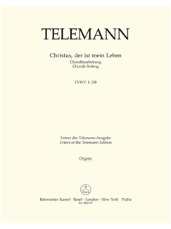 G. P. Telemann: Christus, Der Ist Mein Leben (TVWV 1:138) (Organ) Buch | Orgel