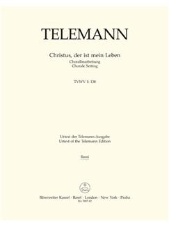 G. P. Telemann: Christus, Der Ist Mein Leben (TVWV 1:138) (Cello/Bass) Books | Cello, Double Bass