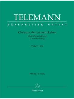 G. P. Telemann: Christus, Der Ist Mein Leben (TVWV 1:138) (Full Score) Bog | SATB, Orkester