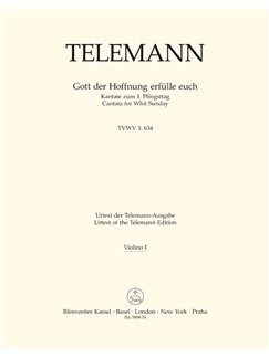 Telemann: Gott Der Hoffnung Erfülle Euch (TVWV 1:634) (Violin I) Livre | Orchestre