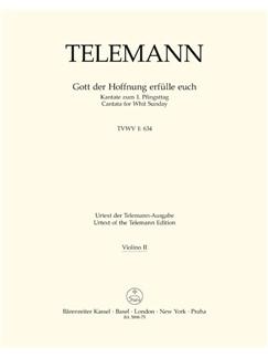 Telemann: Gott Der Hoffnung Erfülle Euch (TVWV 1:634) (Violin II) Books | Choral, Orchestra