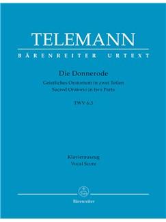 G.P. Telemann: Die Donnerode TVWV 6: 3 (G) (Urtext) Books | Choral, Orchestra