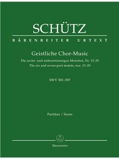 Heinrich Schütz: Sacred Choral Music (Full Score) Books | SATB, Ensemble