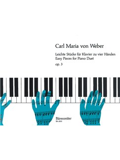 C. M. Von Weber: Easy Pieces For Piano Duet Op.3 Books | Piano Duet