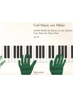 Carl Maria Von Weber: Easy Pieces Op.10 For Piano Duet Books | Klavier vierhändig