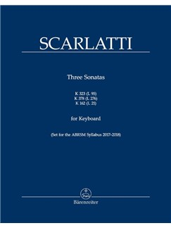 D. Scarlatti: Three Sonatas For Keyboard K.323 (L 95), K.378 (L 276), K. 162 (L 21) Bog | Klaver solo