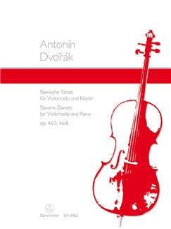 A. Dvorak: Slavonic Dances Op.46/3 And 8 Arranged For Cello And Piano Books | Cello, Piano Accompaniment