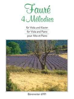 G. Faure: 4 Melodies For Viola & Piano Books | Viola, Piano Accompaniment