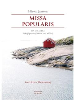 Jansson: Missa Popularis (Vocal Score) Books | Choral, String Quartet