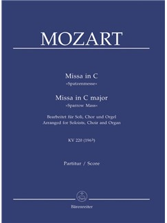 W. A. Mozart: Missa D Major K. 220 - Sparrow Mass: Version For Choir And Organ Books | SATB, Organ Accompaniment