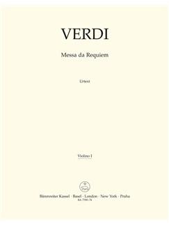 Giuseppe Verdi: Requiem (Messa Da Requiem) - Violin I Books   Violin