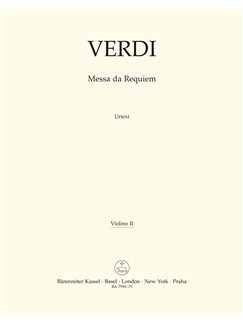 Giuseppe Verdi: Requiem (Messa Da Requiem) - Violin II Books | Violin