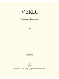 Giuseppe Verdi: Requiem (Messa Da Requiem) - Cello Books | Cello