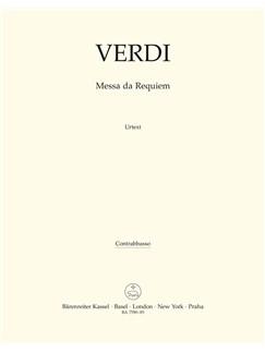 Giuseppe Verdi: Requiem (Messa Da Requiem) - Double Bass Books | Double Bass