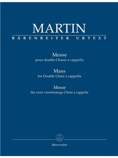 Frank Martin: Mass For Double Choir Books | Choral