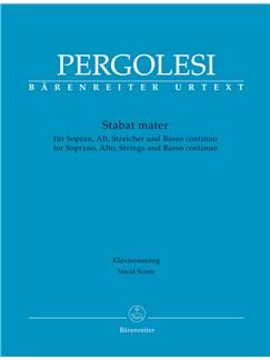 Giovanni Battista Pergolesi: Stabat Mater For Soprano, Alto, Strings And Basso Continuo (Vocal Score) Books | 2-Part Choir, Piano Accompaniment