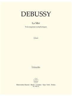 C. Debussy: La Mer - Three Symphonic Sketches (Cello) Books | Orchestra