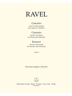 M. Ravel: Concerto For The Left Hand For Piano And Orchestra (Wind Set) Bog | Blæseinstrumenter