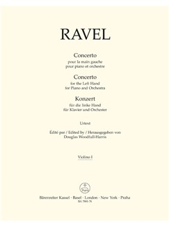 M. Ravel: Concerto For The Left Hand For Piano And Orchestra (Violin I) Books | Violin