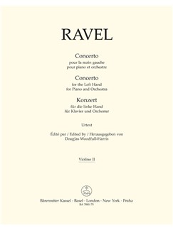 M. Ravel: Concerto For The Left Hand For Piano And Orchestra (Violin II) Books | Violin