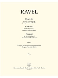 M. Ravel: Concerto For The Left Hand For Piano And Orchestra (Viola) Bog | Bratsch