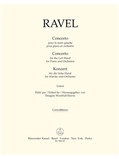 M. Ravel: Concerto For The Left Hand For Piano And Orchestra (Double Bass) Books | Double Bass