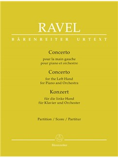 M. Ravel: Concerto For The Left Hand For Piano And Orchestra (Full Score) Books | Orchestra, Piano