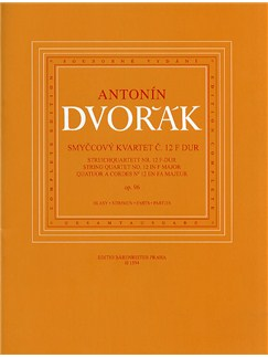Antonin Dvorak: String Quartet No.12 In F 'American' Op.96 (Parts) Books | String Quartet