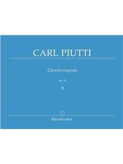 Carl Piutti: Choralvorspiele Band 2 Books | Organ
